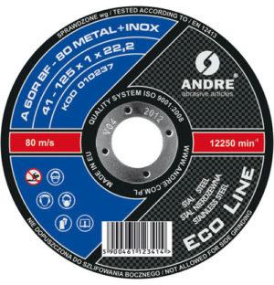 Eco Line metal/inox ściernica 41 125×1,0x22,2 A60RBF80