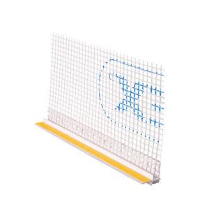 Listwa przyokienna PCV 09/3mm z siatką 2,5m